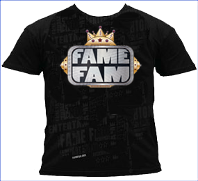 Fame Fam Logo Graphic Tee